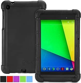 Google Nexus 7 2013 Case - Poetic Google Nexus 7 2013 Case [Turtle Skin Series] - [Corner/Bumper Protection] [Grip] [Sound-Amplification] Protective Silicone Case for Google Nexus 7 2nd Gen 2013 Black (3 Year Manufacturer Warranty From Poetic)
