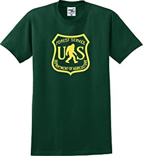 US Forest Service Bigfoot Funny T-Shirt (S-5X)