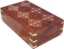 CRAFTCASTLE Sheesham Wood Jewellery Box, Brown