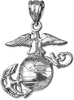 Sterling Silver US Marine Corps Pendant (S-1.10