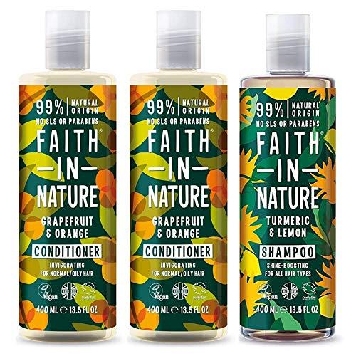 Faith In Nature Grapefruit & Orange Shampoo, Conidtioner & Shower Gel Trio