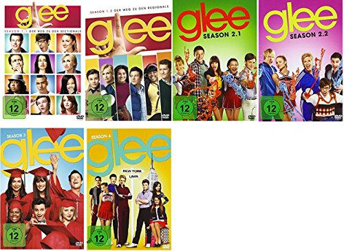 Glee Staffel 1-4 (1.1+1.2+2.1+2.2+3+4) [DVD Set]