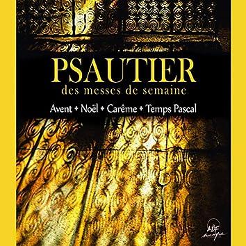 Psautier des messes de semaine: Avent - Noël - Carême - Temps Pascal