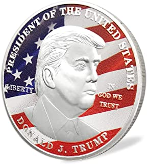 E-Coin Donald Trump US Presidential Trump Challenge Coin Eagle Commemorative Silver Plated In God We Trust Collection Item