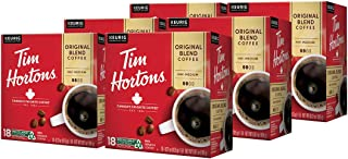 Tim Hortons Original Blend Single Serve Coffee Cups, 108-Count (6 Boxes of 18Ct K-Cups)