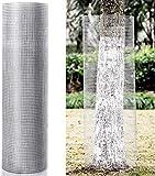 Goplus Hardware Cloth, 1/2 inch Welded Cage Wire Galvanized Hardware Cloth Metal Mesh Chicken Netting Rabbit Fence Wire Window (36'' x 50')