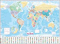 Collins the World: Laminated Wall Map (World Map)