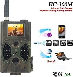 YKJL Cámara de Juego 2G Trampa de Fotos 12MP 1080P con transmisión de teléfono Celular Cámara Caza a Prueba Agua IP54 con Detector Movimiento Visión Nocturna Infrarrojos 20m- A