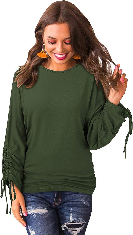 BONESUN Womens Los Angeles Mall Knit Sweater Casual Long Tucson Mall Sleeve Loose Waffle
