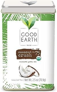 Good Earth Tea Coconut Crush - Premium Organic Loose Leaf - Mild green tea with fresh coconut - Caffeinated
