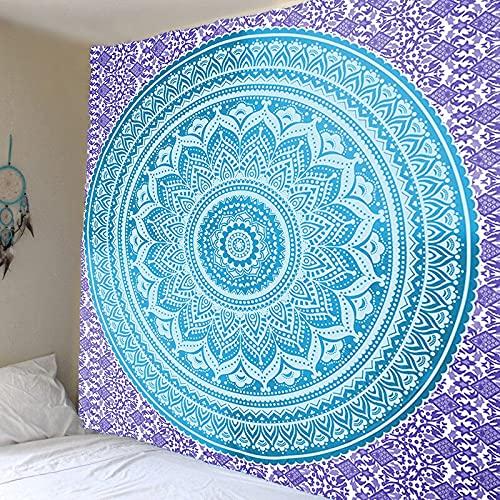 Mandala tapiz colgante de pared estilo indio bohemio estética multicolor pared decoración del hogar dormitorio tapiz A3 73x95cm