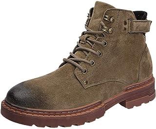 FOLOMI 跨境专供 加绒真皮马丁休闲鞋 高帮鞋工装鞋 军靴马丁靴