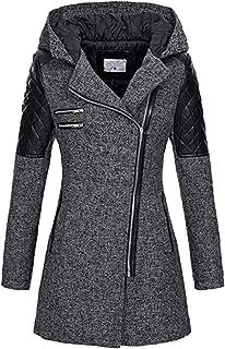 Womens Casual Fleece Jacket Coat Unique Long Zipper Spring Winter Sweatshirt Outwear with Hood