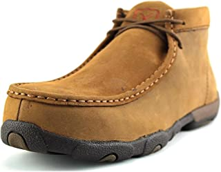 Twisted X Women's Driving Loafers, Steel Toe Mocs - Distressed Saddle