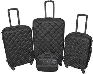 نيوترافل حقائب سفر بعجلات 4 قطع ، اسود , RP857-4P