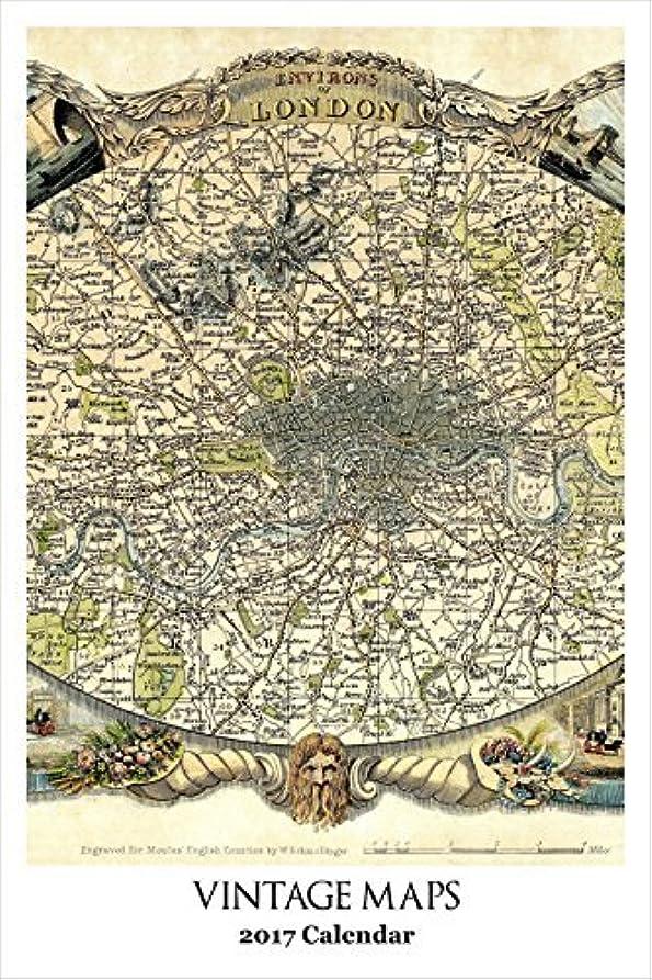 以来寄生虫フィットRetrospect Group YC 065 Vintage Maps-2017 Calendar [並行輸入品]
