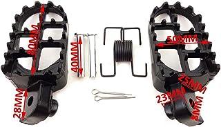 Sportster Fußstütze für Motocross, Schwarz, Aluminium, 2 Stück