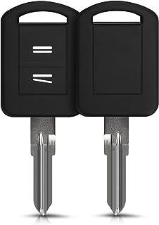 kwmobile autosleutelhoes compatibel met Opel Vauxhall 2-knops autosleutel - Siliconen beschermhoes in zwart