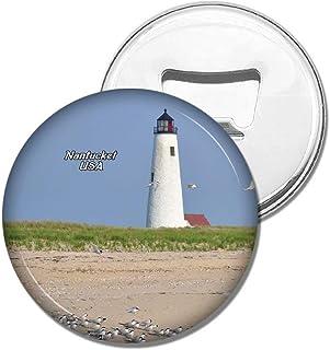 Weekino Fridge Magnets USA America Nantucket Great Point Lighthouse Bottle Opener Beer Magnet Travel Souvenir Collection Gift