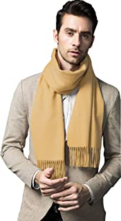 Cashmere & Wool Scarf Solid Color Lightweight Scarf for Men and Women with Gift Box