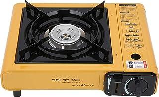 icnicストーブ、MS‑2000滑り止めボトムサポート屋外ストーブ、黒/黄色ステンレス鋼グリルストーブフィールドピクニック炉