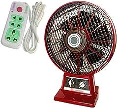 Ventilateur de bureau rétro, métal Détaché Spin Ventilateur Gym industriel Ventilateur à faible bruit de moteur en cuivre,...