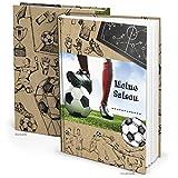 Logbuch-Verlag WM Fußball Geschenkbuch Jungen MEINE SAISON DIN A5 Fußball-Buch Aufschreiben der Fussball-Ergebnisse Album Geburtstagsgeschenk Geschenkidee Fußballspieler Fußballer