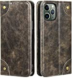 KelaSip Compatible with iPhone 12/iPhone 12 Pro Wallet Case Folio Flip Magnetic Leather Cover with Kickstand and Credit Slots