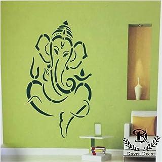 Kayra Decor Ganesha Reusable DIY Wall Stencil Painting for Home Decoration (PVC, 16-inch x 24-inch)