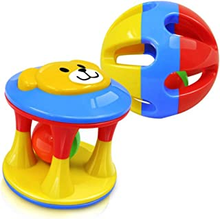 Educational Toy for Baby Kid 2pcs Baby Rattle Toys Handbells Shake Grab Rattle Rolling Ball Educational Toy for Infant New...