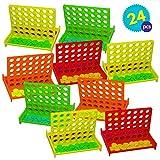 Granel Mini Juegos de Mesa Conecta 4 en una fila - 24 piezas Por...