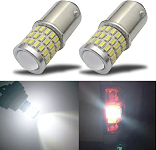 iBrightstar Newest 9-30V Super Bright Low Power 1157 2057 2357 7528 BAY15D LED Bulbs