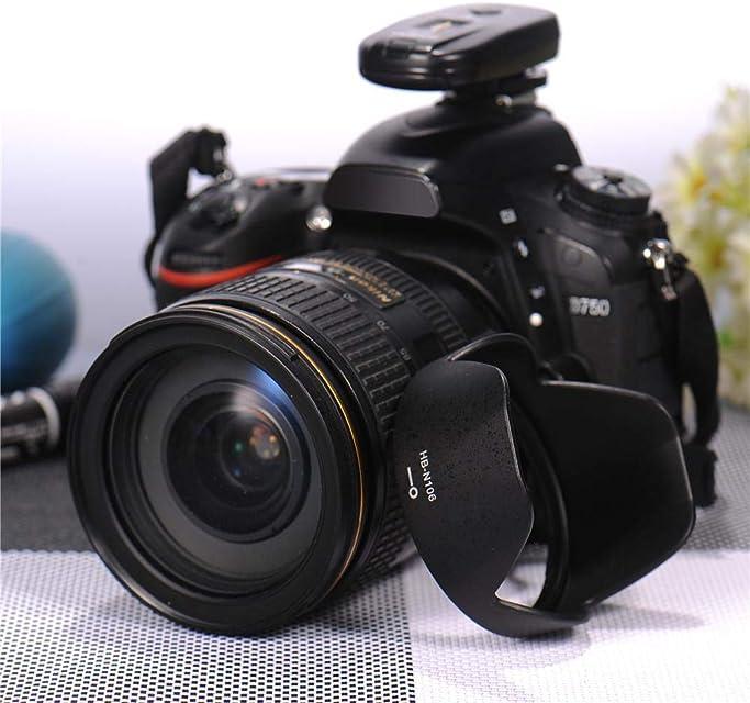 lingzhuo-shop Reversible HB-N106 Lens Hood para Nikon AF-P DX 18-55mm F / 3.5-5.6G VR Lente Nikon D3300 D3400 Lente de cámara para instalación de cámara
