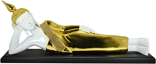 Golden Color Sleeping Buddha Statue Which is Believed to Brings Success and Prosperity at Home.