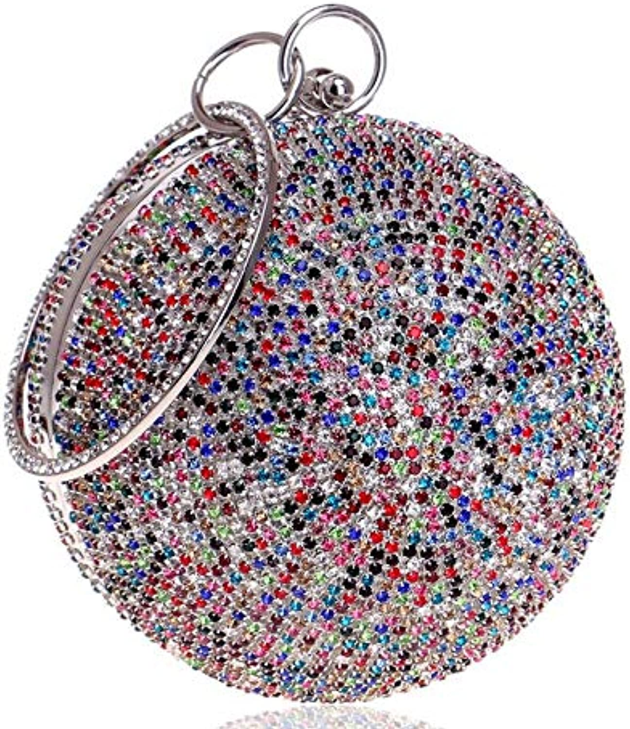 Clutch Bag Women's Evening Fashion Handbag Party Beautiful Luxury Purses Evening Bag (color   Multicolord, Size   Free Size)