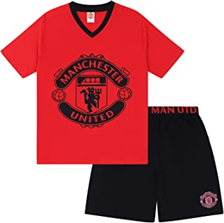 Manchester United FC Official Football Gift Mens Short Pyjamas Loungewear