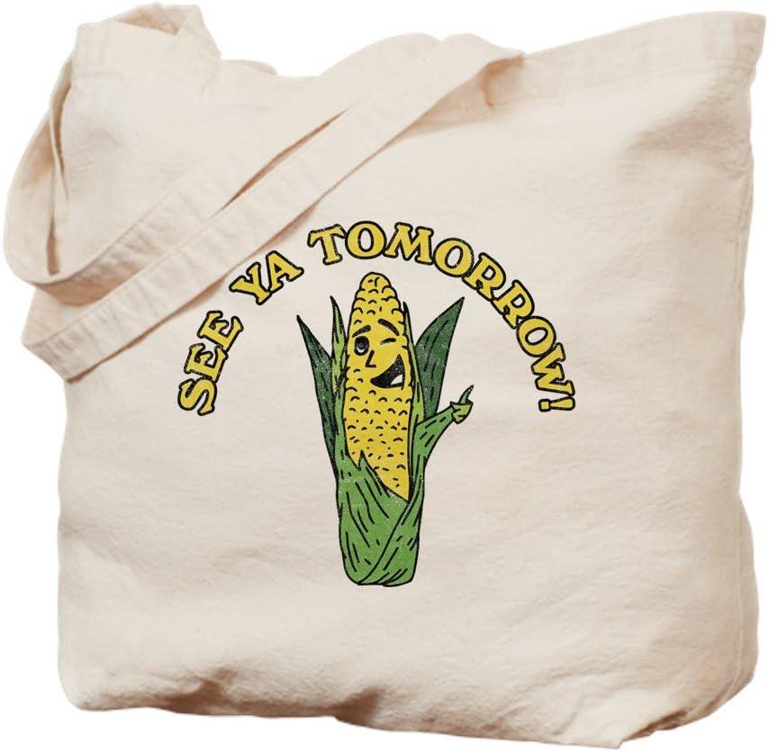 CafePress See Ya Tomorrow Tote Bag Natural Canvas Tote Bag, Reusable Shopping Bag