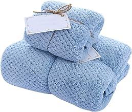مجموعة واحدة من مناشف الحمام ومنشفة الوجه، مجموعة مناشف الحمام الفندقية مناشف سميكة (أزرق)