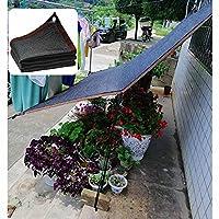 シェードネット、2/3/4/5/6/7mの黒い温室植物保護ネット、メッシュの日よけ布、庭の家具とテラス用の耐引裂性シェーディングネットカバー,2x2m(7*7ft)
