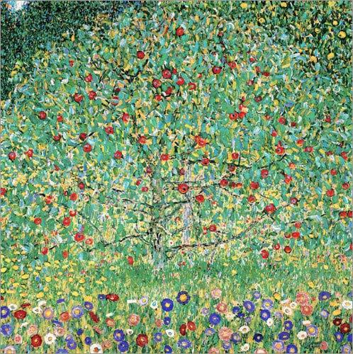 Posterlounge Leinwandbild 50 x 50 cm: Apfelbaum I von Gustav Klimt - fertiges Wandbild, Bild auf Keilrahmen, Fertigbild auf echter Leinwand, Leinwanddruck