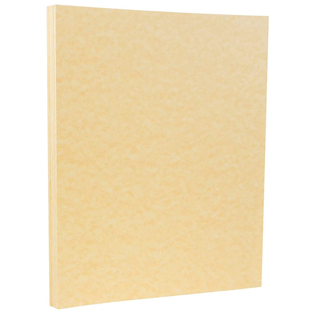 JAM PAPER Parchment 65lb Cardstock - 8.5 x 11 Coverstock - Antique Gold Recycled - 50 Sheets/Pack