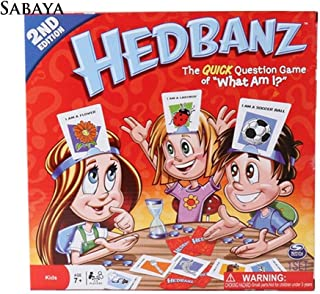 QZ Hedbanz Paper Cards Family Quick Question Guessing Board Game Interactive Toy,Variation:As pictures show