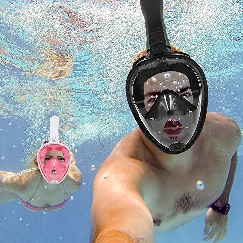 YXY Máscara de Buceo, máscara de respiración, Equipo de Buceo al Aire Libre, diseño de Snorkel seco