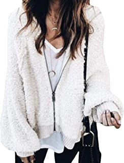 RkBaoye Women Loose Zip Up Lantern Sleeve Solid Weekend Velvet Coat Jacket