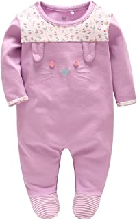54a8dc57e0870 Pyjama Bébé Filles Barboteuses Combinaisons en Coton Grenouillères  Princesse Outfits Vêtements de Naissance