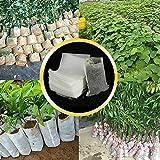SENRISE - Sacchetti per coltivazione in tessuto non tessuto, 200 pezzi, biodegradabili, tr...