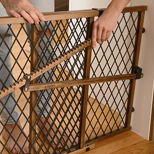 Position & Lock Baby Gate, Pressure-Mounted, Farmhouse Collection