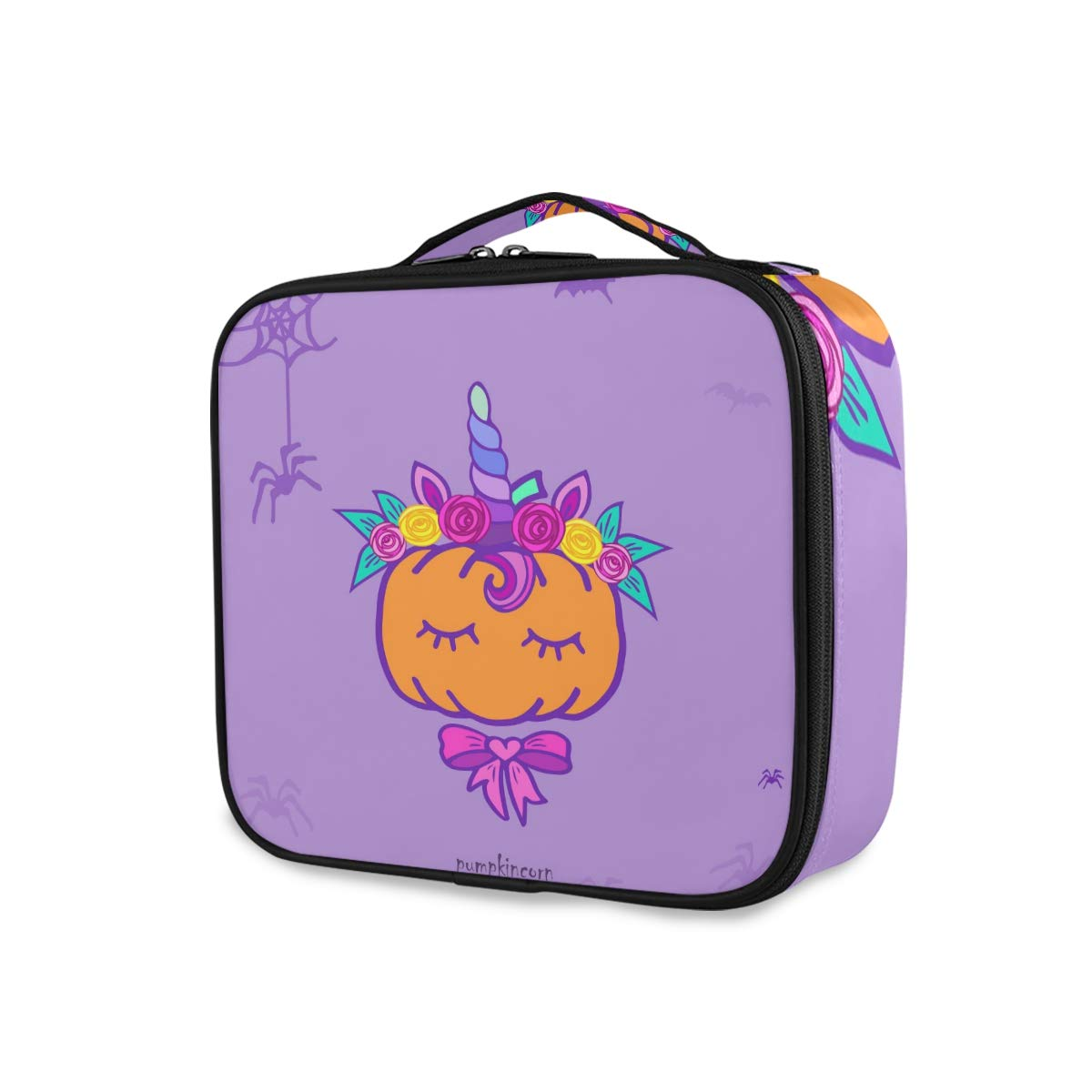 Travel Makeup Max 75% OFF Case Pumpkin Financial sales sale Unicorn Bag Cosmetic Portable