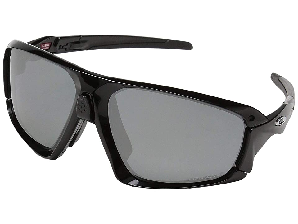 Oakley Field Jacket (Polished Black/Black w/ Prizm Black Polarized) Sport Sunglasses