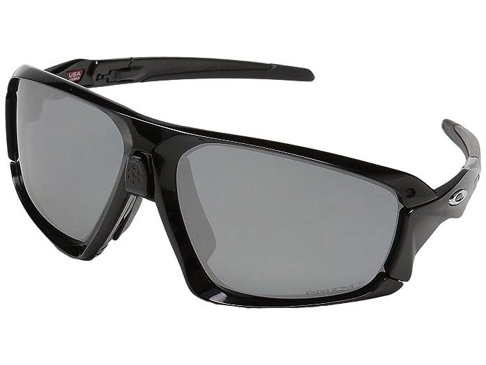 Oakley Field Jacket (Polished Black/Black w/ Prizm Black Polarized) Sport Sunglasses
